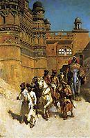 The Maharahaj of Gwalior Before His Palace, c.1887, weeks