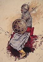 Man in Armor (preparatory sketch for Entering the Mosque), weeks