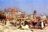 Market Place at Agra, weeks
