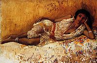 Moorish Girl Lying On A Couch Rabat, Morocco, weeks