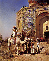 Old Blue Tiled Mosque, Outside of Delhi, India, c.1883, weeks