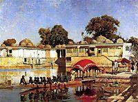 Palace and Lake at Sarket Ahmedabad, India, 1893, weeks