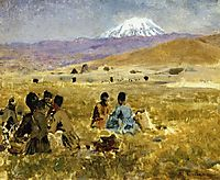 Persians Lunching on the Grass, Mt. Ararat in the Distance, weeks