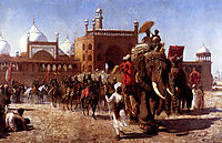 The Return Of The Imperial Court From The Great Nosque At Delhi, In The Reign Of Shah Jehan, 1886, weeks