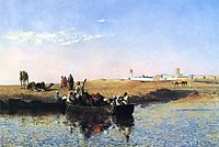 Scene at Sale, Morocco, 1879, weeks