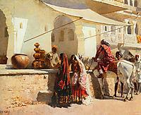 A Street Market Scene, India, 1887, weeks