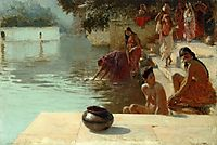 Woman-s Bathing Place I Oodeypore, India, c.1895, weeks
