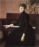At the Piano, c.1903, weir