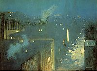 The Bridge Nocturne aka Nocturne Queensboro Bridge, 1910, weir