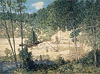 The Building of the Dam, 1908, weir