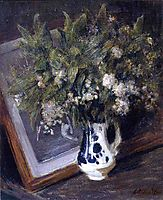 Flowers in a Delft Jug, weir