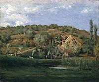 A French Homestead , c.1878, weir