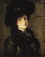 Girl in Black, c.1910, weir
