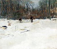 The Ice Cutters, 1895, weir
