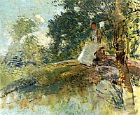 Landscape with Seated Figure, weir