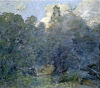 Landscape with Stone Wall, Windham, c.1892, weir