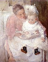 Mother and Child, c.1891, weir