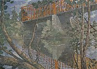 The red bridge, 1890, weir
