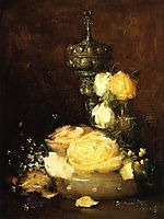 Silver Chalice with Roses, 1882, weir