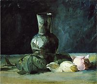 Vase and Roses, 1889, weir