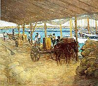 The Wharves, Nassau, 1913, weir