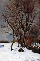 Winter Landscape with Stream, c.1888, weir