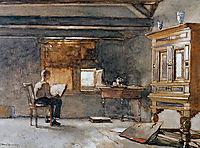 The artist-s studio, weissenbruch