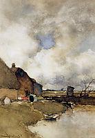 Farm near Noorden, weissenbruch