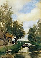Farm on polder canal, weissenbruch