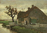 Farmhouse on a canal, weissenbruch