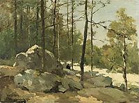Forest View near Barbizon, 1900, weissenbruch