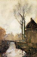 House near canal, weissenbruch