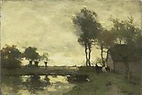 Landscape with a farm pond, weissenbruch