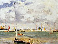 Ships in harbour, weissenbruch