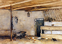 Stable with chickens, weissenbruch