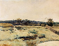 A Summer Landscape With Figures On A Path, weissenbruch