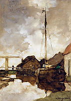 View on canal, weissenbruch