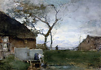 The washing place, weissenbruch
