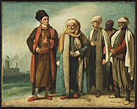 The Ambassador from Tunis with His Attendants as He Appeared in England in 1781, 1781, west
