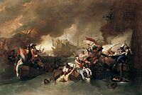 The Battle of La Hogue, Destruction of the French fleet, May 22, 1692, west