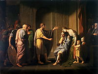 Cleombrotus Ordered into Banishment by Leonidas II, King of Sparta , 1768, west
