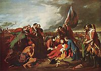The Death of General Wolfe, 1770, west