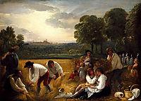 Harvesting at Windsor, 1795, west