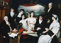 The Hope Family of Sydenham Kent, 1802, west