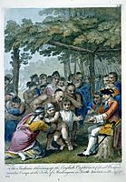 The Indians Delivering up the English Captives to Colonel Bouquet near his camp at the folks of Muskingum, North America in November 1764, c.1769, west