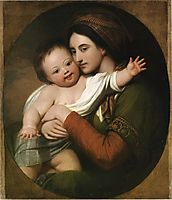 Mrs. Benjamin West and Her Son Raphael, c.1767, west