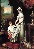 Mrs. Thomas Keyes and Her Daughter, c.1806, west