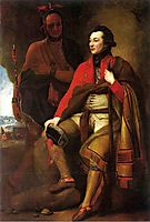 Portrait of Colonel Guy Johnson and Karonghyontye, 1776, west