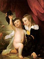 Portrait Of Raphael West And Benjamin West Jr., 1775, west