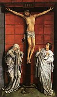 Christ on the Cross with Mary and St. John, weyden
